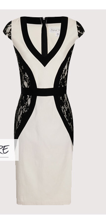 Paper Dolls Lace Panel Wiggle Dress