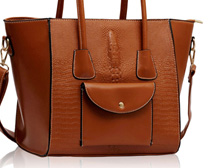Camille Croc Effect Tote Bag