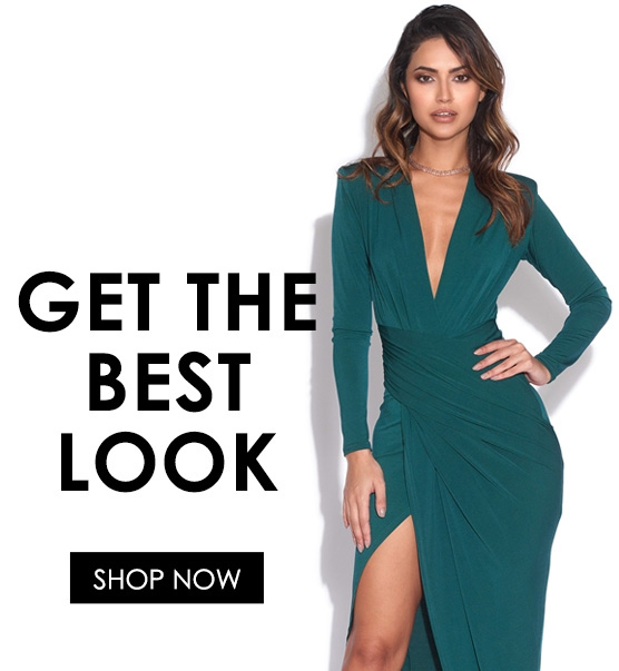 Shop the structured plunge dress