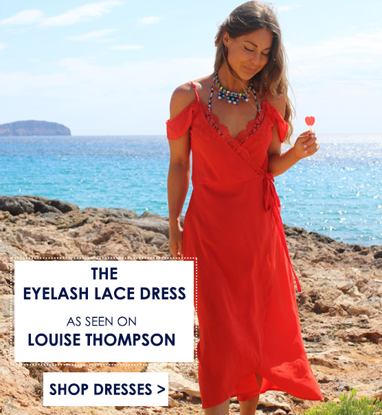 Shop Eyelash Lace Dress From Made In Chelsea Louise Thompson