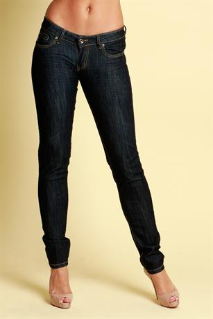 Zipped Crease Straight Leg Jeans