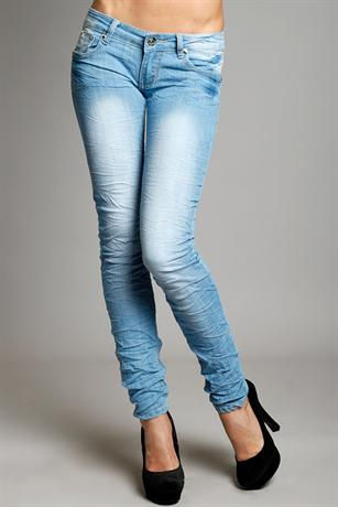 Skinny Scrunch Light Wash Jeans