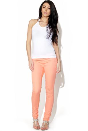 Pieces Foxy Peach Leggings