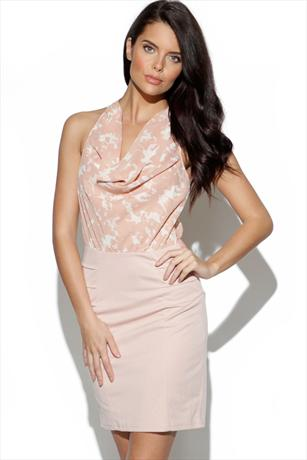 House Of Dereon Cowl Dress