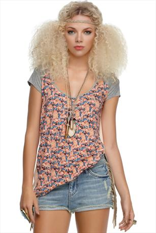 House Of Dereon Cut Out Back Top
