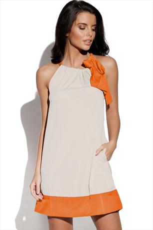BYoung Orange Alina Dress