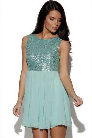 TFNC Sequin Top Skirt Dress