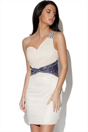 Little Mistress One Shoulder Embellished Dress