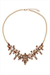 Gold Jewel Faceted Necklace