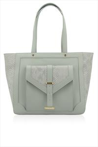 Lucie Croc Effect Tote Bag