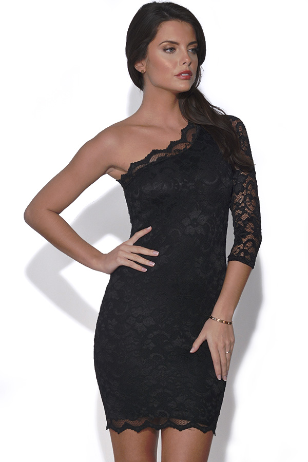 One Shoulder Lace Dress