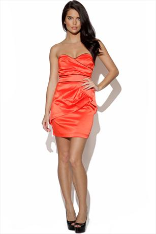 TFNC Strapless Pipe Dress