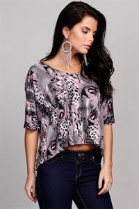 Vila Animal Print Top