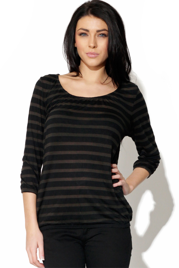 Only Sheer Stripe Top