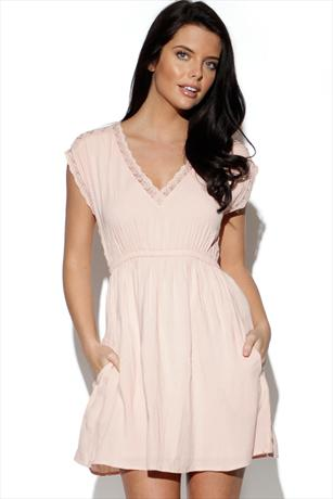 Vila V Neck Dress