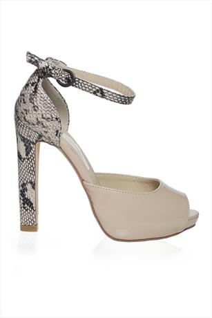 Snake Back Peep Toe Shoe