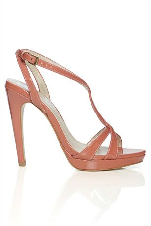Strappy Patent Pink Sandal