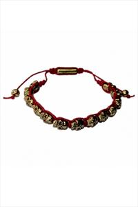 Shamballa Style Golden Skull Friendship Bracelet