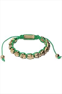 Golden Skull Friendship Bracelet