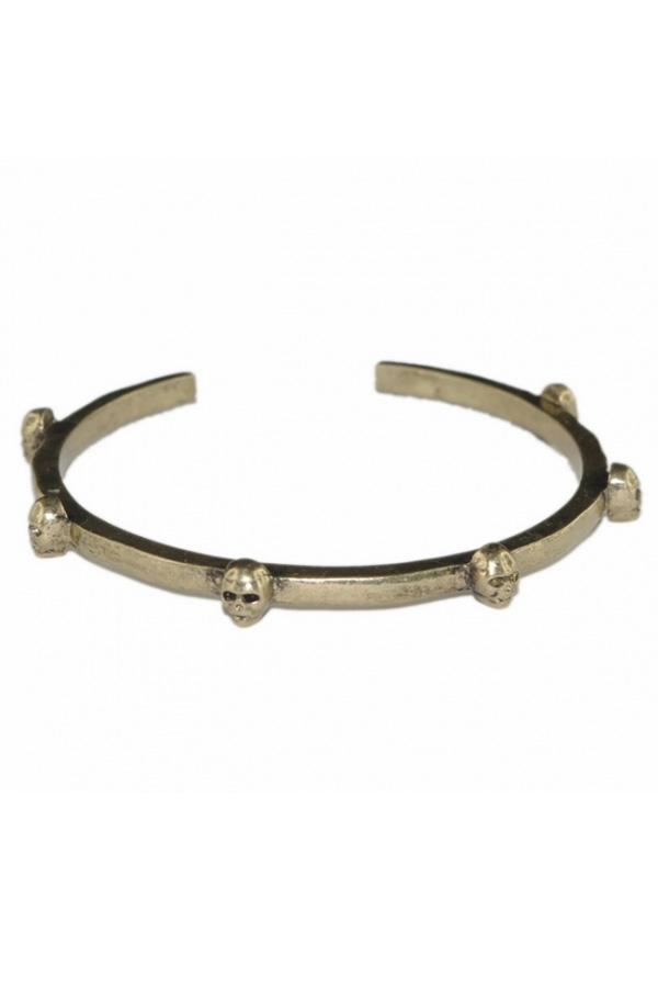 Ancient Golden Tone Skull Bangle