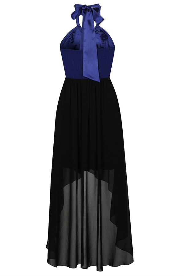 Little Mistress Art Deco Halterneck Dress