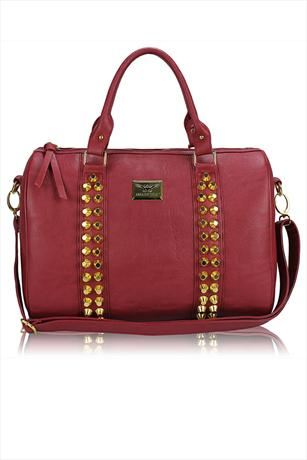Studded Barrel Bag