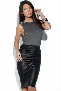 Animal Skin Pencil Skirt