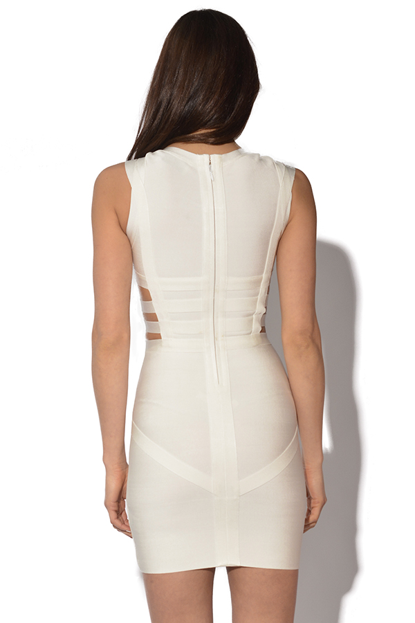 Metal Cut Out Bandage Dress