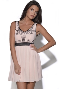 TFNC Embellished V Neck Dress