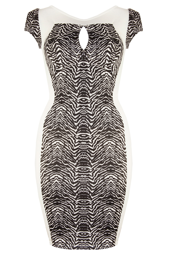 TFNC Zebra Print Bodycon Dress