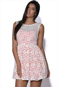 TFNC Lace Overlay Dress