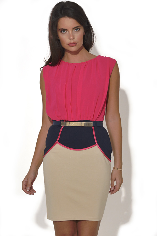 Little Mistress 2 in 1 Dress With Gold Belt
