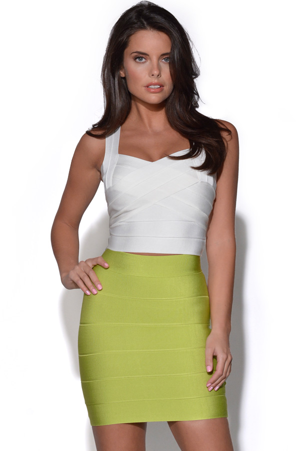 Colour Pop Bandage Mini Skirt