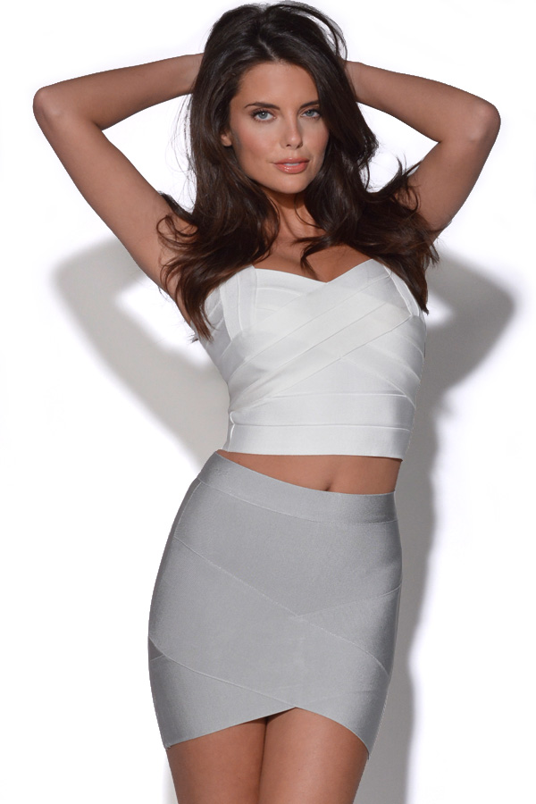 Vestry | Asymmetric Bandage Mini Skirt at Vestry
