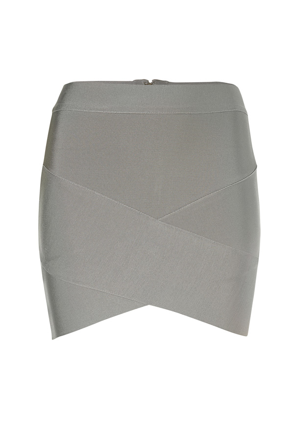 Asymmetric Bandage Mini Skirt