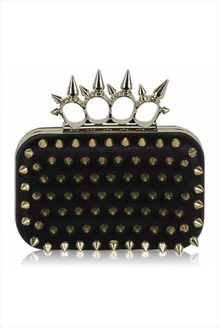 Gold Spike Ring Clutch