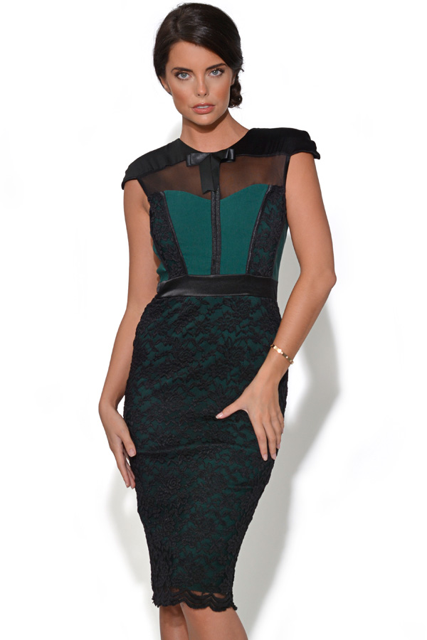 Tempest Hunter Midi Dress with Corset Detail