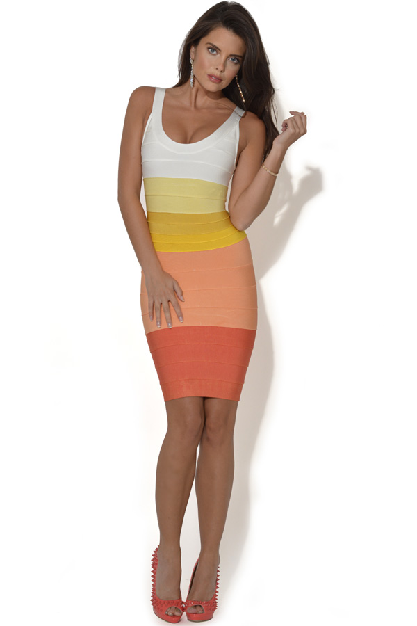 Gradient Effect Bandage Dress