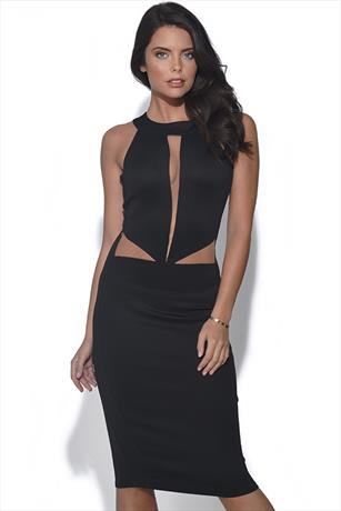 Cut Out Detail Bodycon Dress