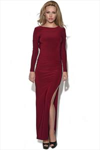 Long Sleeved Slinky Maxi Dress