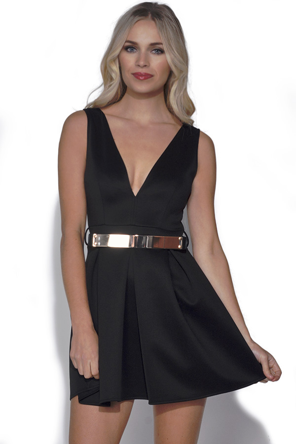 Belted Skater Dress