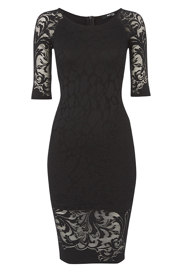 TFNC Lace Midi Bodycon Dress