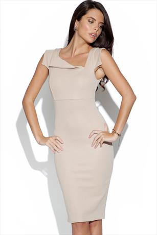 Asymmetric Fitted Dress