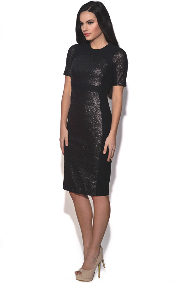 Vesper Zoe Sequin Bodycon Dress