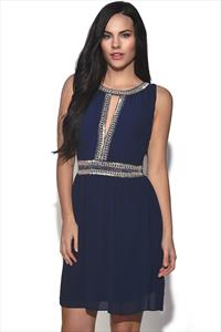 TFNC Denver Split Front Embellished Dress