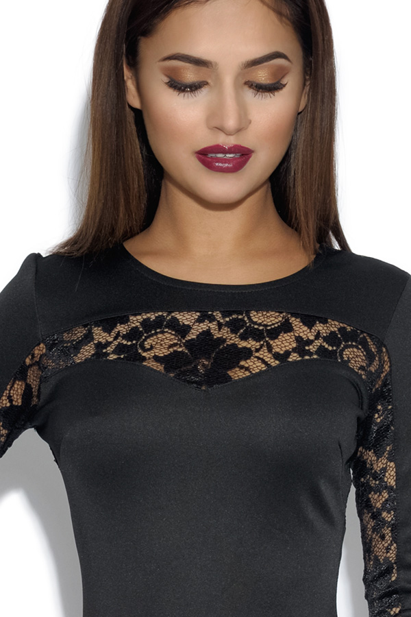Lace Detail Bodycon Dress
