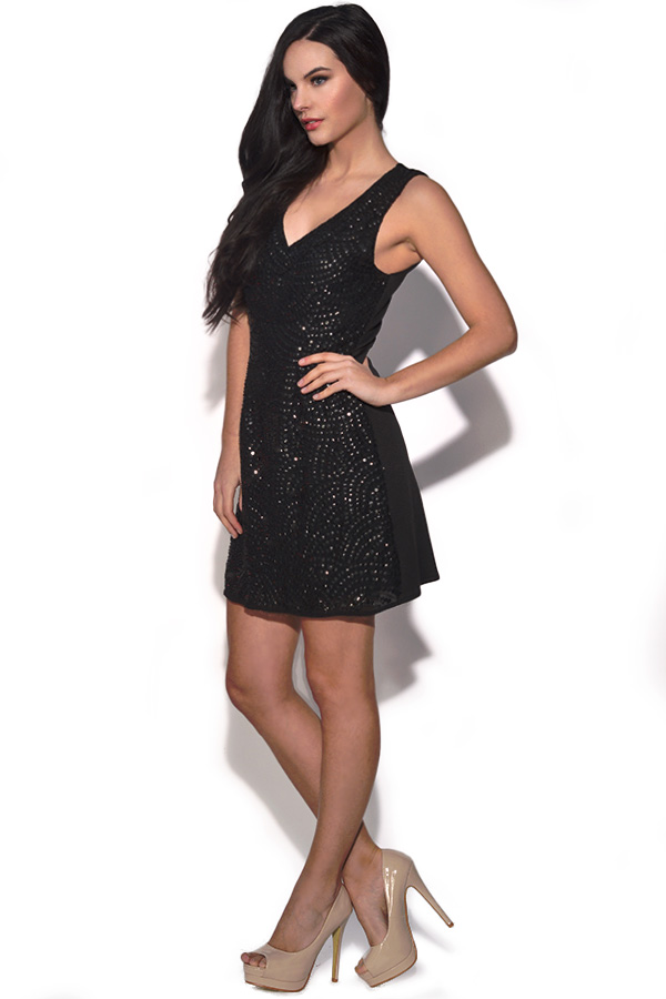 TFNC Black Embellished Dress