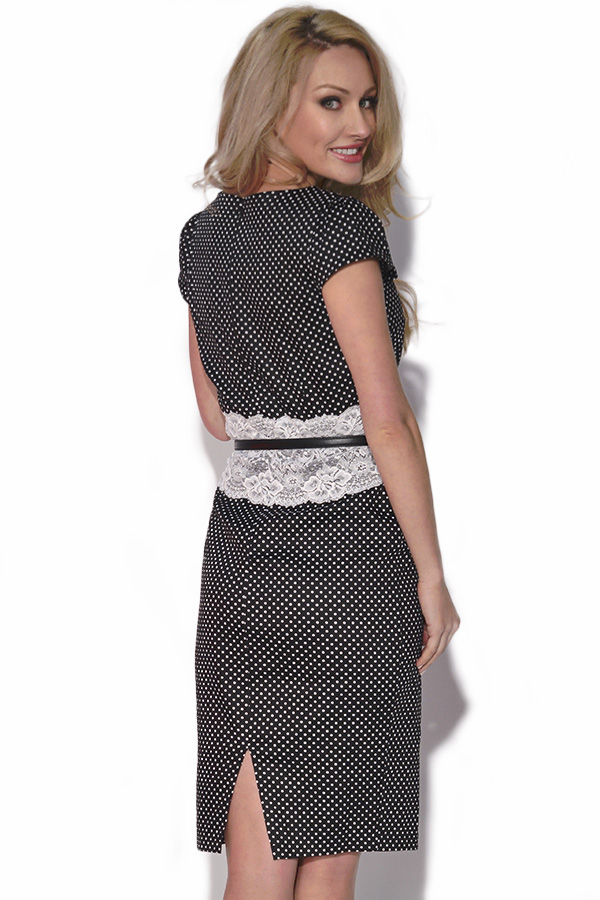 Paper Dolls Polka Dot Lace Dress