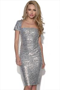 Ruched Detail Sequin Dress