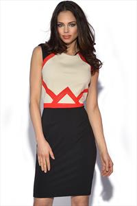 Little Mistress Panel Detail Bodycon Dress